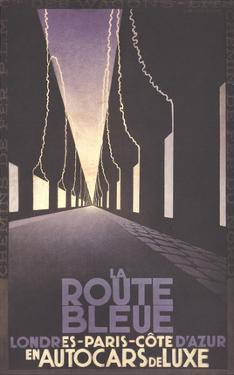 La Route Bleue by Adolphe Mouron Cassandre