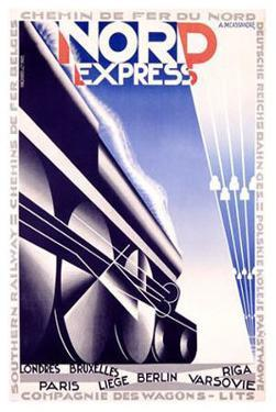 Nord Express by Adolphe Mouron Cassandre