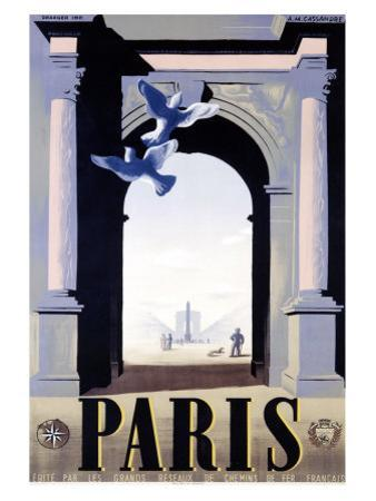 Paris by Adolphe Mouron Cassandre