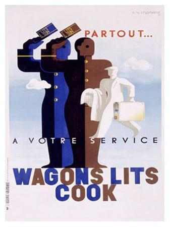Wagons Lits, Cook by Adolphe Mouron Cassandre