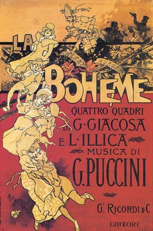 Adolpho Hohenstein- Vintage Puccini La Boheme (Italian)