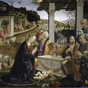 Adoration of the Shepherds - by Domenico Ghirlandaio