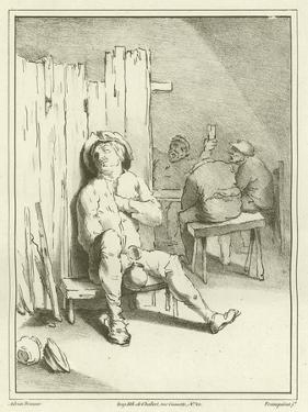 A Sleeping Drunkard by Adriaen Brouwer