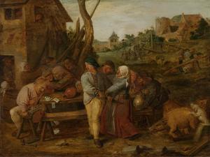 Peasant Brawl by Adriaen Brouwer