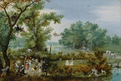 A Merry Company in an Arbor, 1615