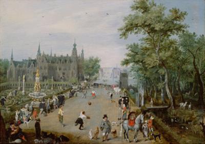 Jeu De Paume before a Country Palace, Ca 1614