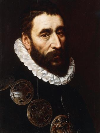 Portrait of a Bearded Man, Bust-Length, Wearing Gorgets by Adriaen Thomasz Key