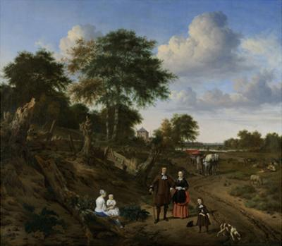 Couple in a Landscape by Adriaen van de Velde