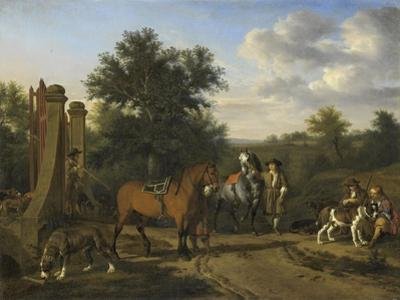 Hunting Party by Adriaen van de Velde