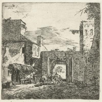 Inn at city gate, 1653