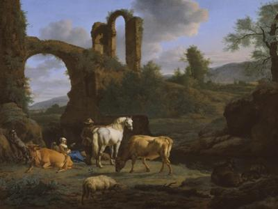 Pastoral Landscape with Ruins, 1664 by Adriaen van de Velde