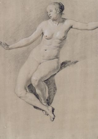 Seated Female Nude by Adriaen van de Velde