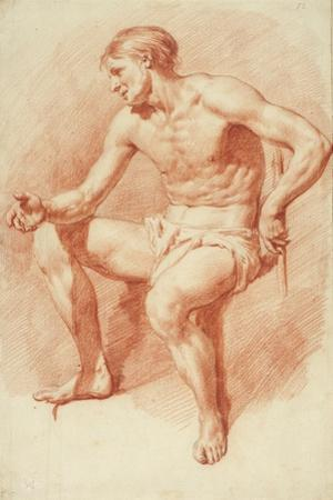 Study of a Male Nude by Adriaen van de Velde