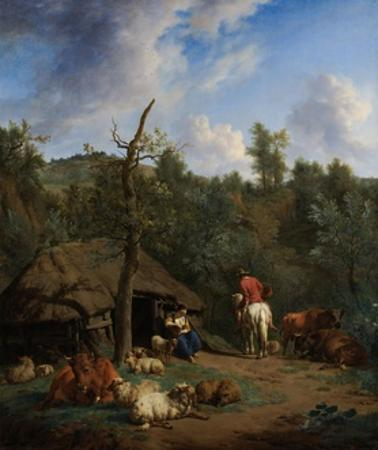 The Hut, 1671 by Adriaen van de Velde