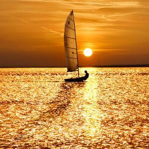 Sailing Off into the Sunset by Adrian Campfield