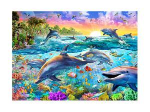 Tropical Dolphins by Adrian Chesterman
