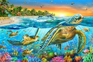 Underwater Turtles by Adrian Chesterman