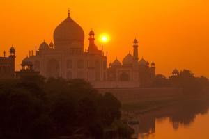 Sunset at Taj Mahal by Adrian Pope
