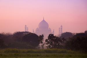 Taj Mahal Viewed from Countryside at Dawn by Adrian Pope