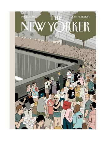 Memorial Plaza - The New Yorker Cover, July 7, 2014