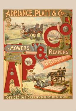 Adriance, Platt and Co., Mowers, Reapers and Binders