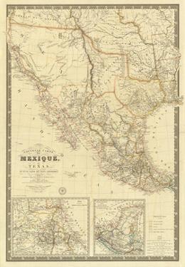 Nouvelle Carte du Mexique, Du Texas, c.1840 by Adrien Hubert Brue