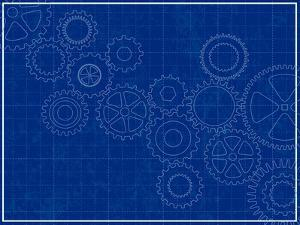 Blueprint Background with Cogs by adroach