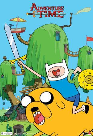 Adventure Time Finn & Jake Television Poster