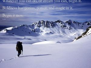 Begin it now by AdventureArt