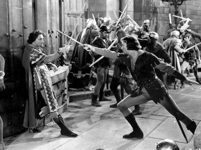 Adventures Of Robin Hood, Basil Rathbone, Errol Flynn, 1938