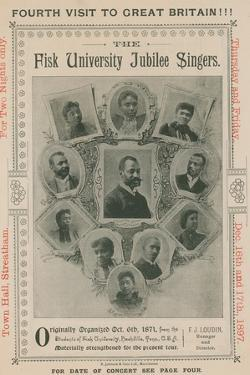 Advert for an Appearance of the Fisk University Jubilee Singers