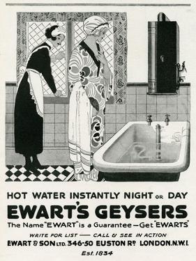 Advert for Ewart's Geysers 1926