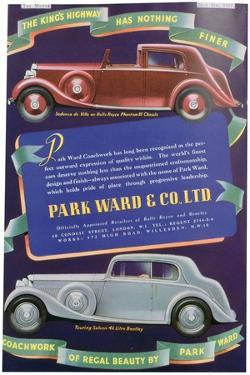 Advert for Park Ward and Co Car Coachwork, 1937