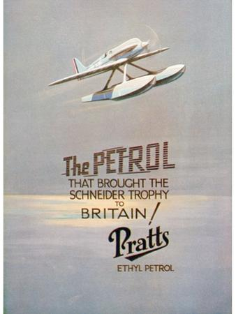Advert for Pratts Ethyl Petrol, C1928