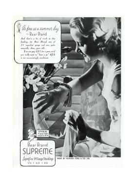 Advert for Stockings by Bear Brand 1936
