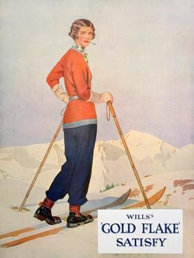Advert for Wills' 'Gold Flake' Cigarettes, 1930