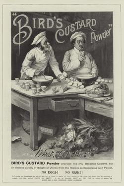 Advertisement, Bird's Custard Powder