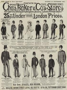 Advertisement, Charles Baker and Co's Stores