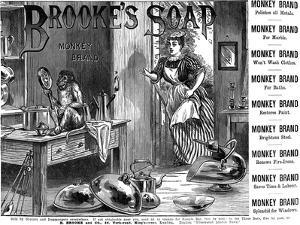 Advertisement for Brooke's 'Monkey Brand' Soap, 1887