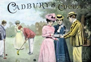 Advertisement for Cadbury's Cocoa, Showing a Croquet Game, c.1899