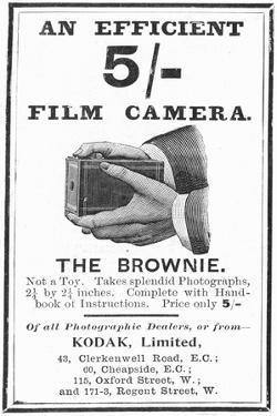 Advertisement for Kodak 'Brownie' Box Cameras, 1900