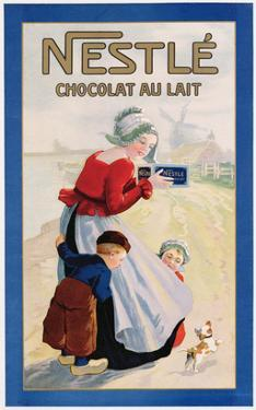 Advertisement for Nestle Chocolat Au Lait, C.1920 (Colour Litho)