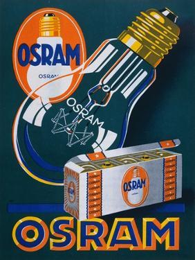 Advertisement for Osram Lightbulbs, 1927