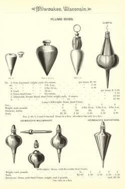 Advertisement for Plumb Bobs