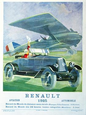 Advertisement for Renault 'Air Travel and Motoring', from 'Femina', November 1925