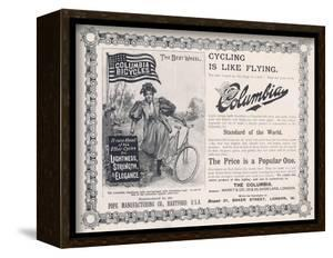 """Advertisement for the American """"Columbia"""" Bicycle"""