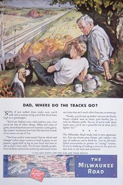Advertisement for the Milwaukee Road Railway Featuring the 11000 Mile Supply Line