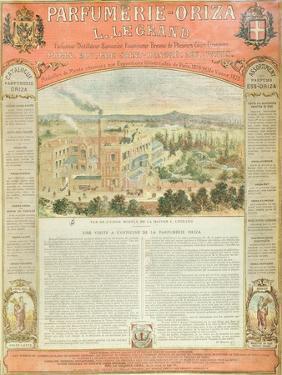 Advertisement for the Parfumerie Oriza L. Legrand, C.1884