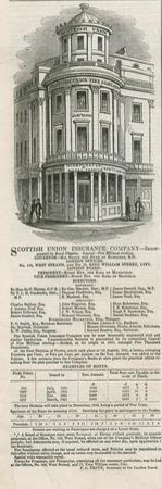 Advertisement for the Scottish Union Insurance Company