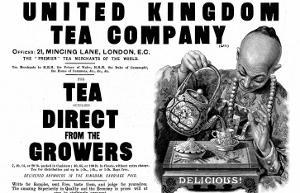 Advertisement for the United Kingdom Tea Company Ltd